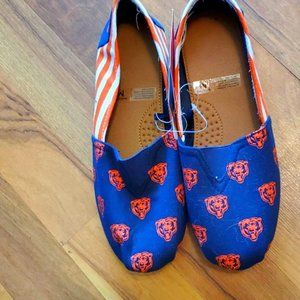 Chicago bears canvas shoes